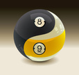 Pool Game,Yin Yang Symbol,C...