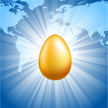 Eggs,Gold Colored,Globe - M...