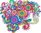 Psychedelic,Paisley,Flower,...