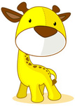 Animal,Cartoon,Giraffe,Cute...
