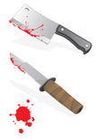 Knife,Blood,Meat Cleaver,We...