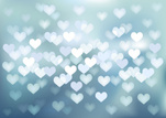 Holiday - Event,Silver Colored,Photographic Effects,Textured,Vector,Backgrounds,Horizontal,Light - Natural Phenomenon,Night,Abstract,Blue,Defocused,Gray,Valentine's Day - Holiday,Vibrant Color,Illustration,Paranormal,Celebration Event,Heart Shape,Image,White Color,Glowing,Shape,No People,Illuminated