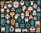 Robot,Pattern,Alien,Cute,Ca...