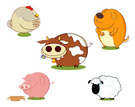 Sheep,Farm,Animal,Cartoon,C...