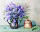 Lilac,Vase,Painted Image,Pa...