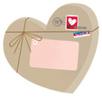Heart Shape,Mail,Gift,Packa...