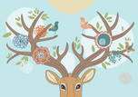 Deer,Stag,Animal Head,Vecto...