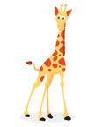 Giraffe,Cartoon,Animal,Cute...