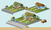 Isometric,House,House,Built...