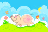 Farm,Pig,Cheerful,Happiness...