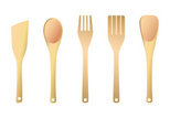 Spoon,Wood - Material,Fork,...