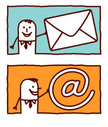 E-Mail,Mail,Messenger,'at' ...