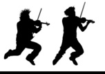 Violinist,Silhouette,People...
