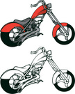 Motorcycle,Customized,Red,C...