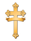 Cross Shape,Gold Colored,Ch...