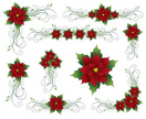 Poinsettia,Christmas,Vector...