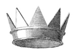 Crown,Engraved Image,King,A...