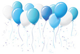 Balloon,Blue,Confetti,White...