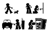 Cartoon,Silhouette,Plumber,...
