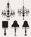 Chandelier,Electric Lamp,Si...