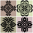 Tile,Pattern,Four Objects,S...