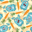Rabbit - Animal,Bizarre,Carrot,Pattern,Baby Rabbit,Seamless,Vegetable,Humor,Animal,Food,Emotion,Cartoon,Furious,Animal Ear,Fun,Paw,Vector Backgrounds,Backgrounds,Young Animal,Illustrations And Vector Art,Vector Cartoons,Cheerful,Sparse,Wallpaper Pattern,Joy,Smiling,Vibrant Color,Baby Animals,Animals And Pets,Characters,Pets,Caricature,Leaf