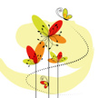 Flower,Butterfly - Insect,S...