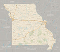 Missouri,Map,Road,Highway,R...