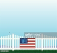 Independence,Flag,Fence,Fly...