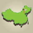 China - East Asia,Map,Green...