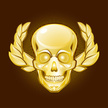 Human Skull,Gold Colored,Br...