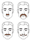 Mustache,Human Face,Men,Lin...