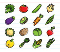 Vegetable,Fruit,Icon Set,Co...