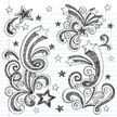 Star - Space,Star Shape,Sketch Pad,Doodle,Sketch,Swirl,Lined Paper,Teen Pop,Notebook,Drawing - Art Product,Scribble,Back to School,Ilustration,Vector,Incomplete,Creativity,Fun,Vector Backgrounds,Vector Ornaments,Illustrations And Vector Art,Cute,Design Element,Hand-drawn
