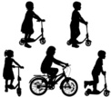 Bicycle,Child,Vector,Silhou...
