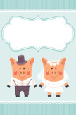 Pig,Wedding,Bride,Vector,Tw...