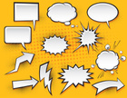 Comic Book,Cartoon,Humor,Bubble,Exploding,Hot Air Balloon,Balloon,Lightning,Speech,Talking,Discussion,Shouting,Thinking,Screaming,Cloudscape,Vector,Arrow Symbol,Sign,Furious,Communication,Anger,Set,Message,Empty,Direction,Vector Cartoons,Illustrations And Vector Art,Vector Backgrounds