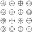 Crosshair,Focus - Concept,Symbol,Computer Icon,Radar,Sniper,Rifle Sight,Gun,Aiming,Military,Target Shooting,Rifle,Surveillance,Vector,Shooting,Collection,gunpoint,Army,Weapon,Cross Shape,Cross Section,Bull's-Eye,Circle,Ilustration,Archery,Visual Screen,Design Element,Isolated,Black Color,Illustrations And Vector Art,Set,Vector Ornaments
