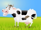 Cow,Cute,Ilustration,Cheerf...