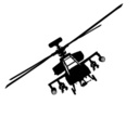 Helicopter,Military,Silhoue...