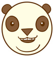 Panda,Cartoon,Smiling,Vecto...