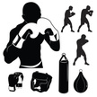 Boxing,Combat Sport,Silhoue...