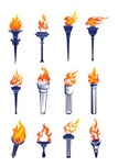 Flaming Torch,Olympic Torch...