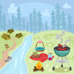 Summer Camp,Barbecue Grill,...