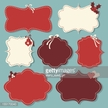 Computer Graphics,Sign,Digitally Generated Image,Design,Label,Christmas,Shape,Red,Old-fashioned,Paper,Season,Heart Shape,Computer Graphic,Ribbon - Sewing Item,Frame,Cute,Illustration,Antique,No People,Vector,Fashion,Retro Styled,Holiday - Event,Design Element