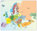 Map,Cartography,Europe,Vect...