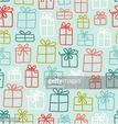 Multicolored gift boxes pattern