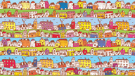 Town,Cartoon,Street,House,B...