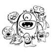 Monster,Doodle,Happiness,Cu...