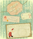 New Year,Greeting Card,Old-...
